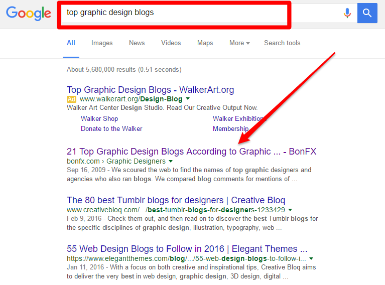 the top graphic design blogs search