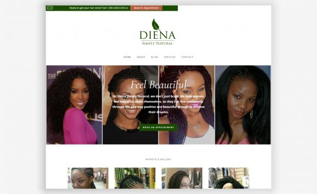 Diena Simply Natural website