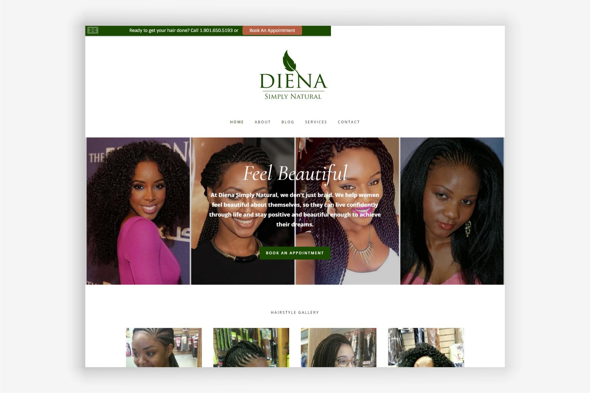 Diena Simply Natural website