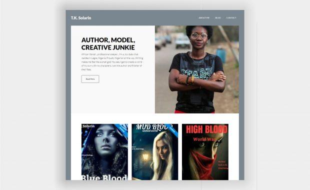 Website Design for T.K. Solarin